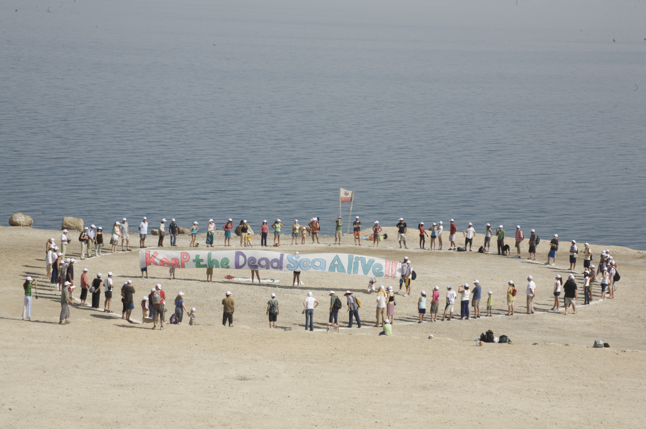 0 for 350 for climate change day at dead sea