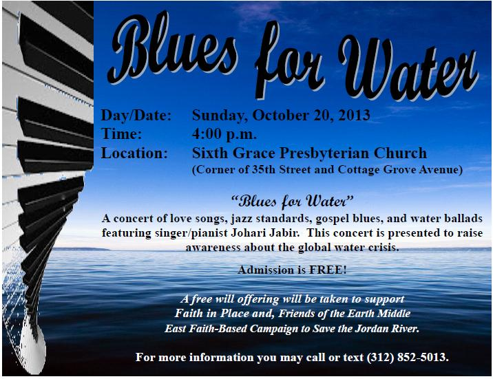 Concert Blues for Water, 2013