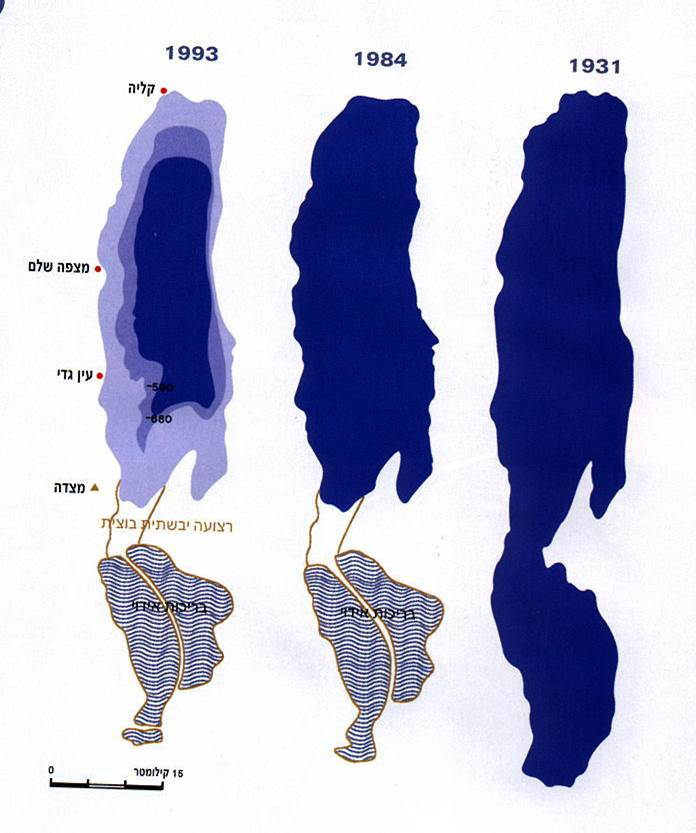 Shrinking of the Dead Sea
