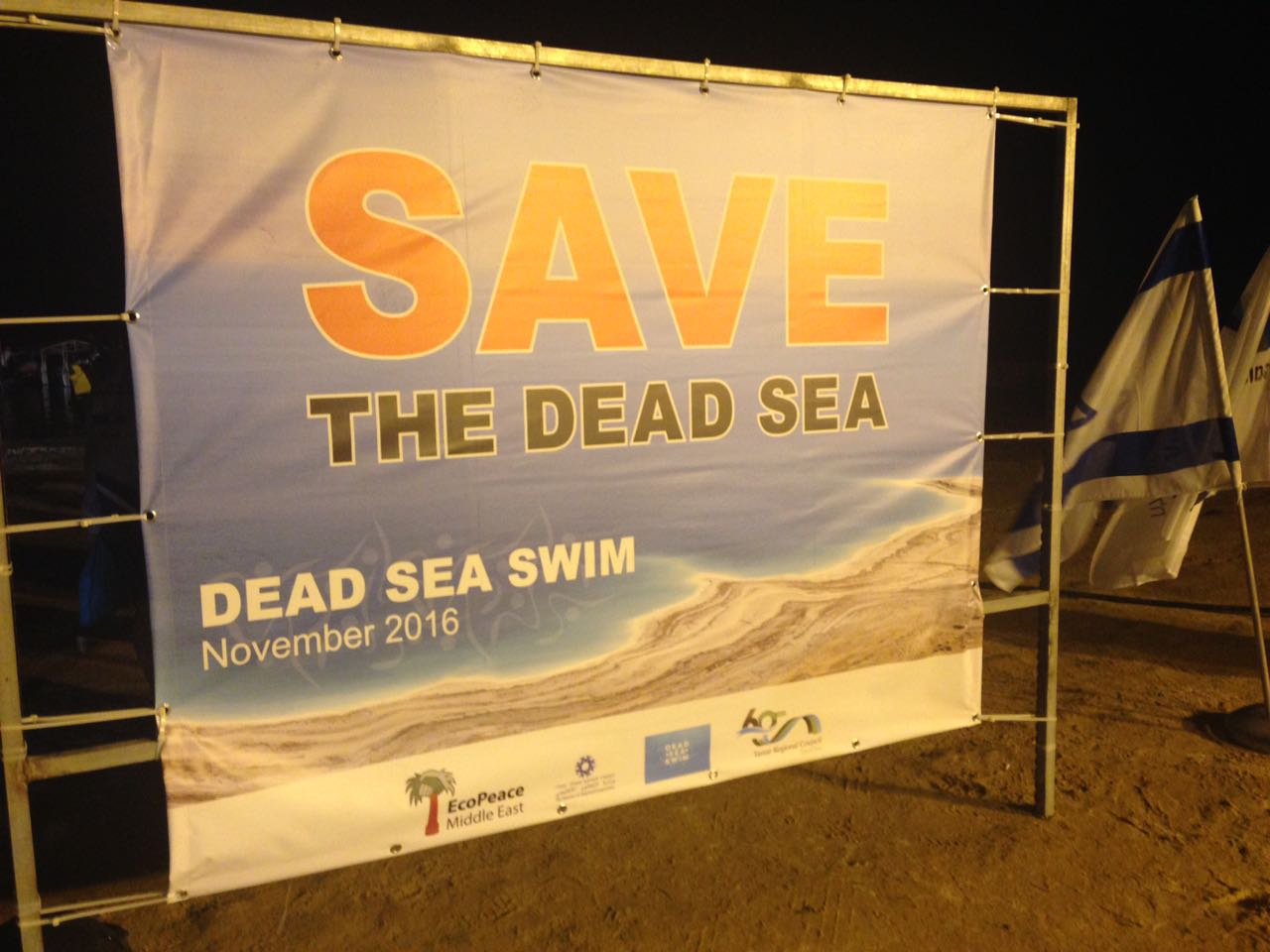 Save the Dead Sea sign