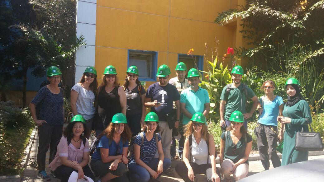 EcoPeace staff at Ashkelon Desalination Plant