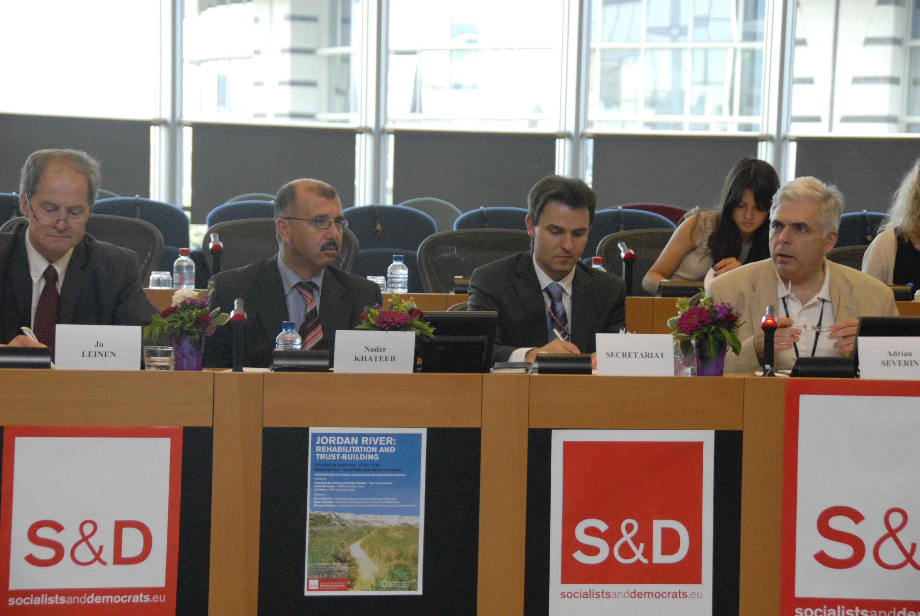 EcoPeace in EU Parliament