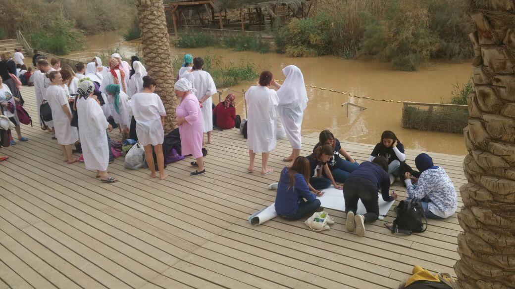 Israeli Palestinian girls at Kaser el Yehud