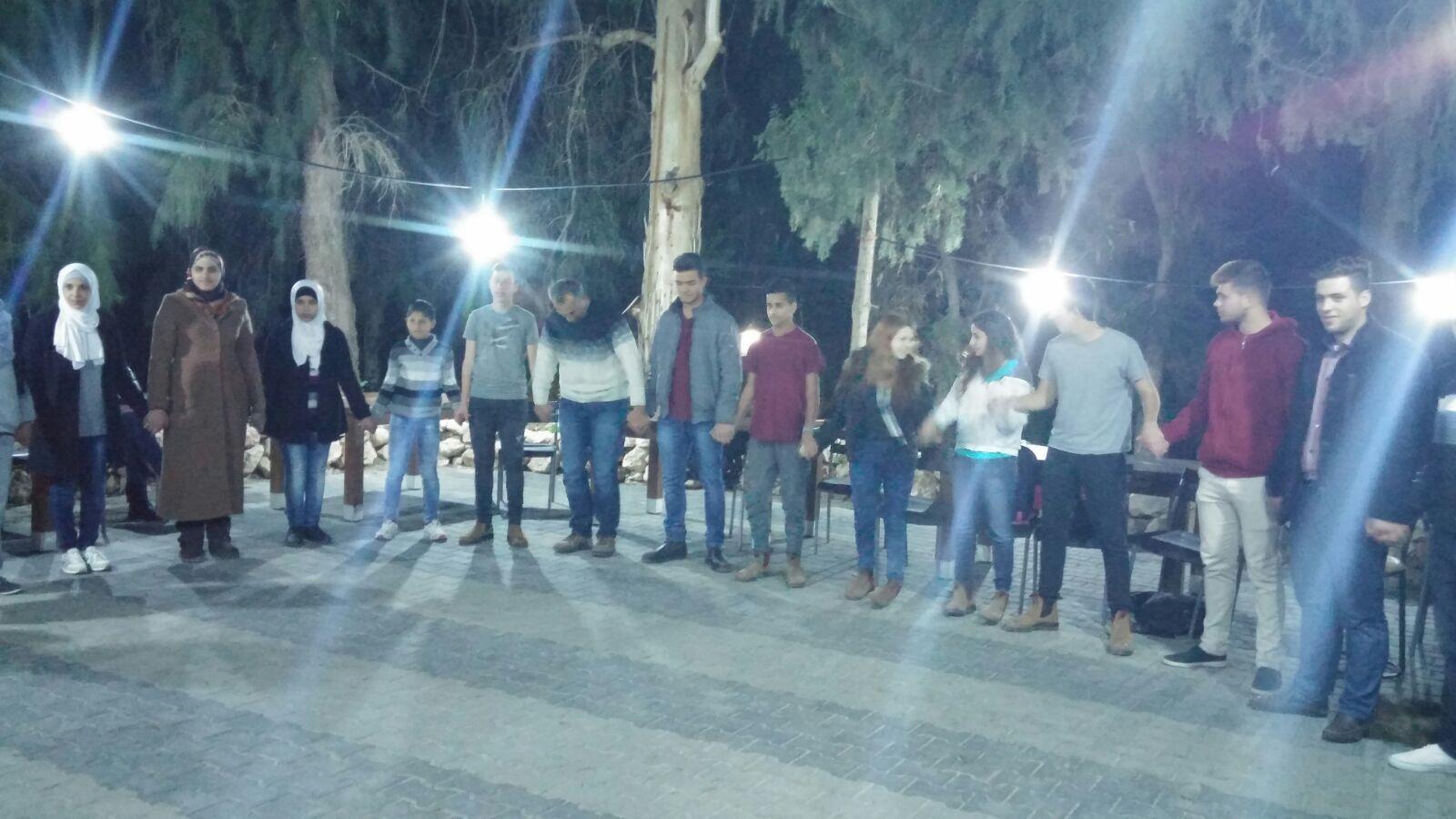 Youth camp night activity