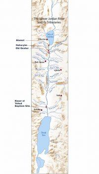 Map of Lower Jordan River sites