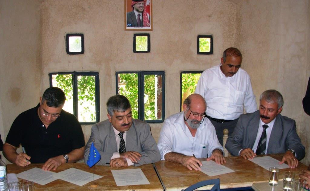 Signing MoU at Pella, Jordan