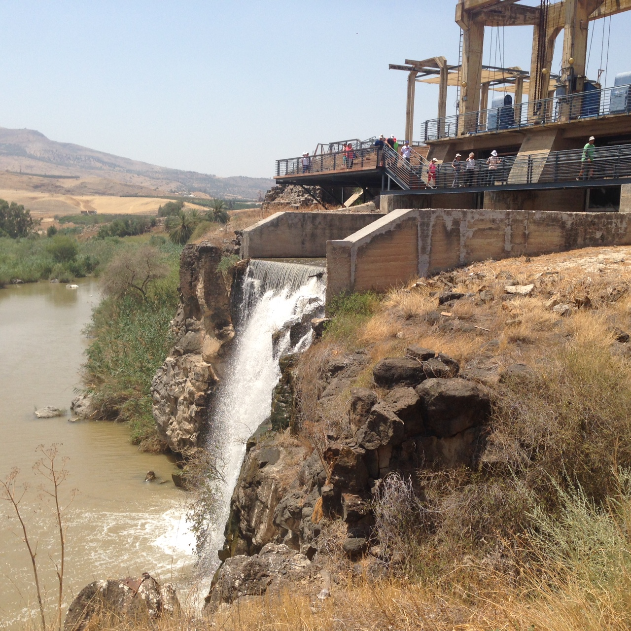 Naharayim Overflow Dam Waterfall