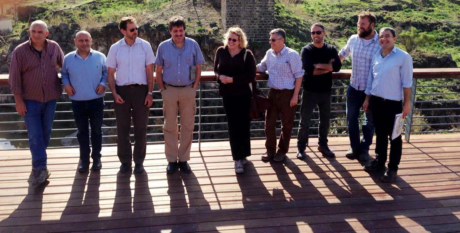 World Bank visiting Jordan River with EcoPeace