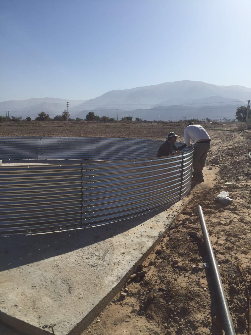Water tank at model farm jordan
