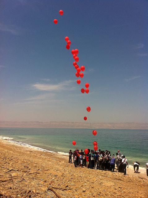 Dead Sea, Jordan on 350 climate change day