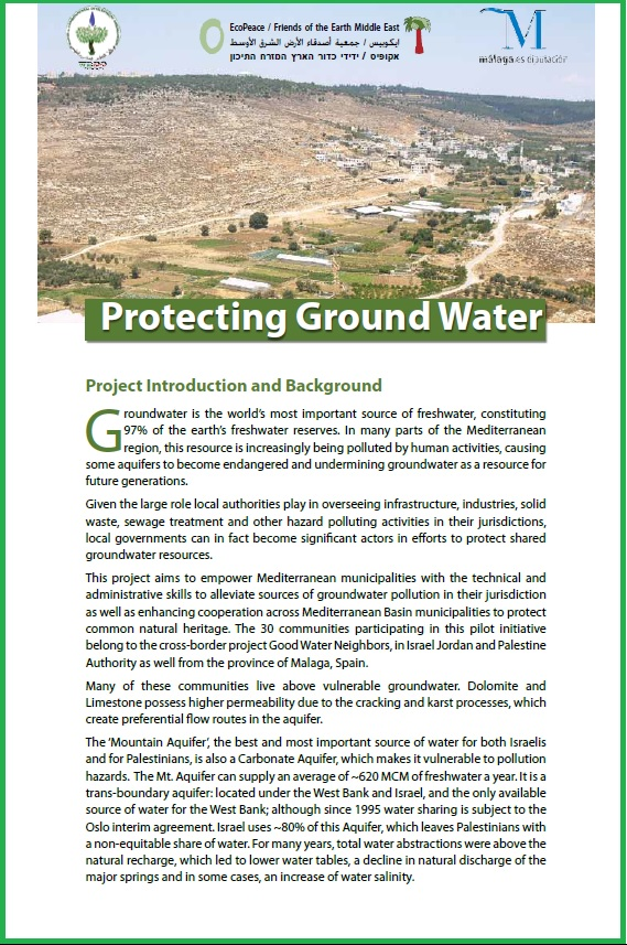 Protecting groundwater brochure