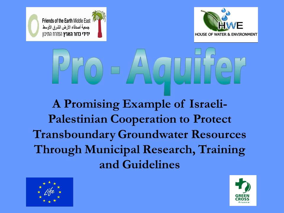 conference slide for pro aquifer project