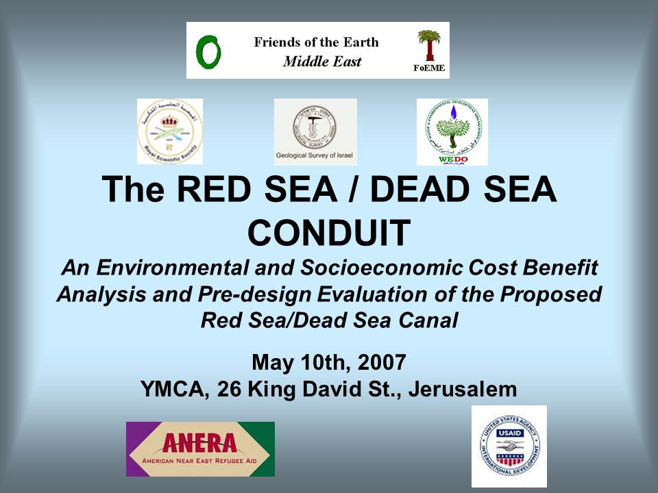 Final Conference on EcoPeace independent assessment of the Red Dead project