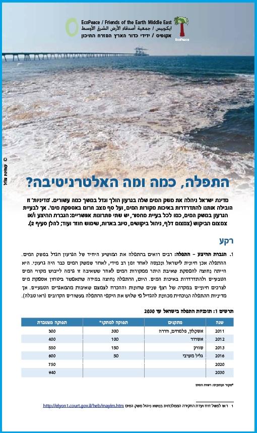 Position paper desalination Israel
