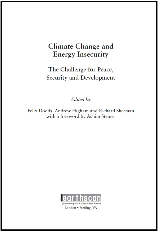 Climate change and energy insecurity Felix Dodds