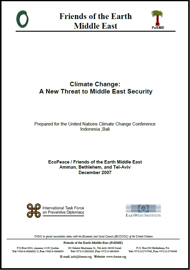 climate change threat to middle east security